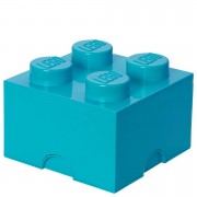 Lego Ladrillo de almacenamiento LEGO (4 espigas) - Azul azure