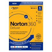 NortonLifeLock Deluxe [PC/MacOS/Android/iOS/PC/MacOS/Android/iOS Videospiel] - 50 GB Cloud-Speicherplatz/5 Peripheriegeräte - Deutsch - Box-Pack - 1 Jahr