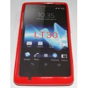 Силиконов гръб ТПУ за Sony Xperia TX LT30P Червен