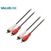 Valueline VLAP24200B30 2xRCA dugó - 2xRCA dugó audio összekötő kábel 3m