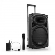 "Ibiza Port 12 VHF-BT 30cm (12"") Mobile PA-Anlage USB SD AUX MP3 Bluetooth schwarz"