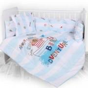 Бебешки спален комплект Lorelli Лили Ранфорс, приключение синьо, 0742521