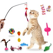 18pcs Cat Toys Cat Teases Tooth Grinding Toy Talking toys Set Pet Toys