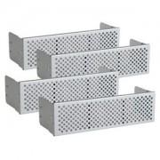 Set 4 bucati mesh frontal aluminiu Lian Li BZ-501A Silver