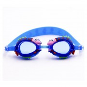 Cartoon Shark Patron Anti - Vaho Gafas De Natacion Con Tapones De Silicona Para Niños (azul)