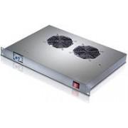 """Tecnosteel ventilacija za ormar 2×ventilator sa termostatom, 19"""" (P9092T)"""