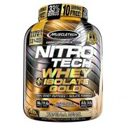 Nitrotech 100% Whey Plus Isolate Gold Muscletech 4 Lbs - Unissex