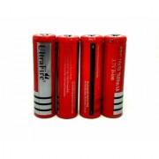 Invento 4pcs 3.7V 7800mah 18650 Li-ion Rechargeable Battery Cell with 2pcs 2 cell 18650 Plug Universal Li-ion Charger