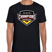 Bellatio Decorations We are the champions Deutschland / Duitsland supporter t-shirt zwart voor heren