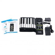 Battary Supported with Louderspeaker 88 Keys Flexible Roll up Piano Electronic Hand Roll Keyboard Pi