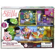 Angry Birds Stella Telepods Birds Rock Together Figure Collection [Stella, Poppy, Willow, Gale, & Da