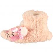 Apollo Roze hoge huispantoffels/sloffen muizen voor meisjes/peuters