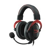 Kingston HyperX Cloud II Wired Headset - Over-the-head - Circumaural - Red
