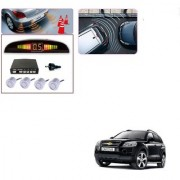 Auto Addict Car Silver Reverse Parking Sensor With LED Display For Chevrolet Captiva