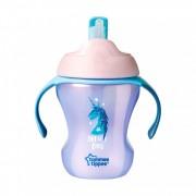 Tommee Tippee EXPLORA easy drink szívószálas itató 230 ml 6 hó+ (pink)