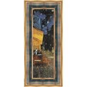 Tabloi Van Gogh Terasa cafenelei- fragment, rama albastra-aurie patinata