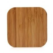 GadgetBay Universele draadloze Qi oplaad pad - Bamboe hout oplader