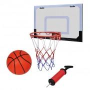 vidaXL Мини баскетболен кош за закрито в комплект с топка и помпа