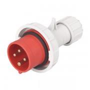 Ipari csatlakozó dugó HTN-0141 16A Ip67 3p+E 400V ELMARK