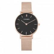 CAGARNY 6872 Elegante reloj de cuarzo para mujer - Oro Rosa? Negro