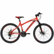 Bicicleta Mtb-Ht 26 Carpat Thunder C2654A cadru aluminiu culoare portocaliunegru