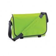 Bagbase Lime groene messenger aktetas met schouderband