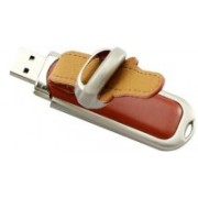 nexShop Creative Leather Cum Metal Chain USB Flash Drive 8 GB Pen Drive(Brown)