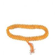 100%Original Certified Natural Yellow Sulemani Hakik Mala Unheated & Untreated Agate mala Jaipur Gemstone