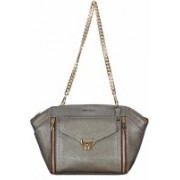 ADAMIS Women Evening/Party Grey Genuine Leather Sling Bag
