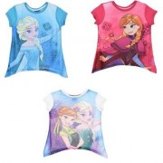 Disney Kortärmad T-shirt Disney Frost (Vit, 8 ÅR - 128 cm)