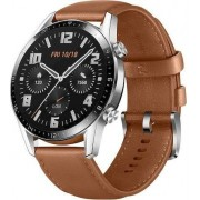 Huawei Watch GT Classic Silver Leather Strap Brown
