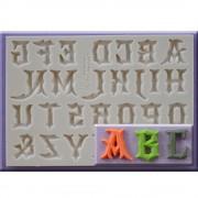 Mulaj Silicon Alfabet Stil Gotic, h 2.2 cm