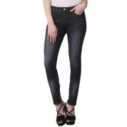 KOTTY Black Mid Rise Skinny washed Jeans