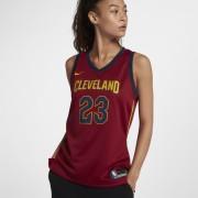 Maillot connecté Nike NBA LeBron James Icon Edition Swingman (Cleveland Cavaliers) pour Femme - Rouge