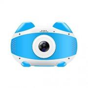 MZNEO Mini cámara WiFi Niños Juguetes educativos para niños Regalos de cumpleaños Cámara Digital Cámara de Video de proyección 1080P, Azul