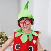 ELECTROPRIME® Kids Toddler Strawberry Fruit Costume Outfit Fancy Party Halloween Dress Up