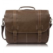 Rockdale Classic Laptop Messenger Bag Brown - Briefcase Designed to Fit Laptops 13 14 and up to 15.6 Inches