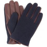 Profuomo Leder-Handschuh Nappa Dunkelblau Braun - Dunkelblau 8.5