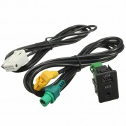 Aux in Switch & USB Draad Kabel Adapter Voor BMW 3 5 serie E87 E90 E91 E92 X5 X6