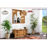 1a Direktimport Garderobe mit Spiegel, original Mexico Möbel, Landhausstil, massiv