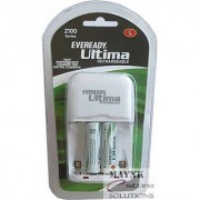 Set of Eveready Ultima Charger with 2 AA 2100 mAh Ni-Mh Rechargeable Batteries