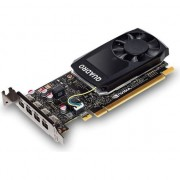 Placa video PNY NVIDIA Quadro P1000, 4GB GDDR5 (128 Bit), 4x miniDP (4x miniDP to DP), LP