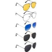NuVew Aviator Sunglasses(Black, Blue, Green, Clear, Yellow)