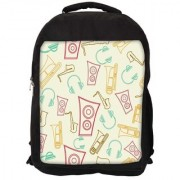 Speakers And Jazz Digitally Printed Laptop Backpack
