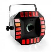 Beamz Cub4 II LED 2-in1-LED-Lichteffekt Quad derby mit Moonflower 64 LEDs RGBAW