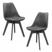 PremiumXL - [en.casa] Design stolica - set od 2 komada - 83 x 48cm - siva