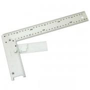 Asztalos derékszög, alumínium ; állítás:0-90fok 400mm