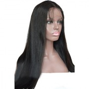 Sellers Destination Long Layered Human Hair Wig for Women with Heat Resistant(size 26 Black)