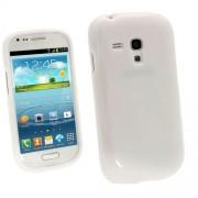 Samsung I8190 Galaxy S III mini Силиконов Калъф Бял + Протектор