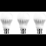 LNVO 7 Watt LED Bulbs Pack of 3 Cool Day Light
